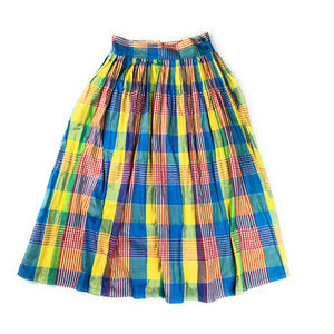 f16c3a99b7 Vintage Skirts | Cotton Madras Plaid Midi Skirt W Pockets | Poshmark